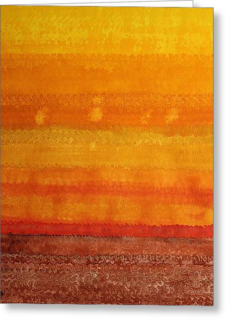 Earth And Sky Original Painting Greeting Card by Sol Luckman