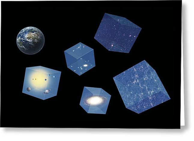 Earth And Space, Conceptual Artwork Greeting Card by Science Photo Library