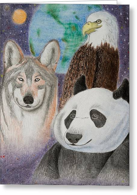 Earth Day Greeting Card by Jeanette K
