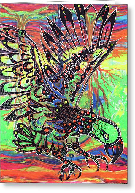 Earth Eagle Greeting Card by Lorinda Fore and Tony Lima