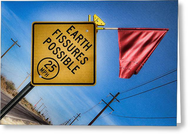 Earth Fissures Possible Greeting Card