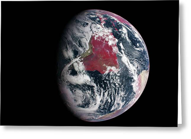 Earth From Space Greeting Card by Nasa/johns Hopkins University Applied Physics Laboratory/carnegie Institution Of Washington