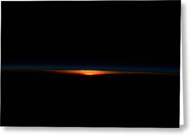 Earth Horizon View Over South Pacific Greeting Card