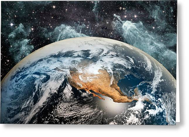 Earth In Space Greeting Card