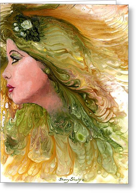 Earth Maiden Greeting Card by Sherry Shipley