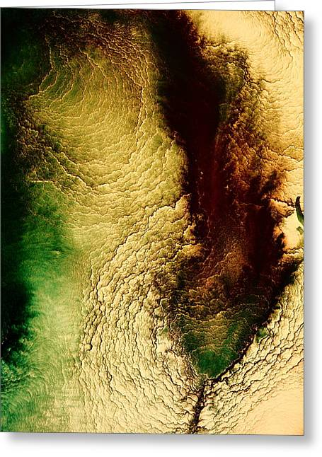 Earth Tones Abstract Art Depths Of The Grand Canyon  Greeting Card