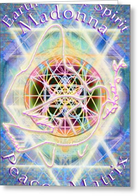 Earth Water Spirit Madonna Peace Matrix Greeting Card