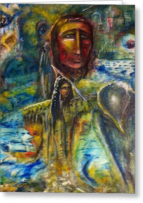 Earth Woman 2 Greeting Card by Kicking Bear  Productions