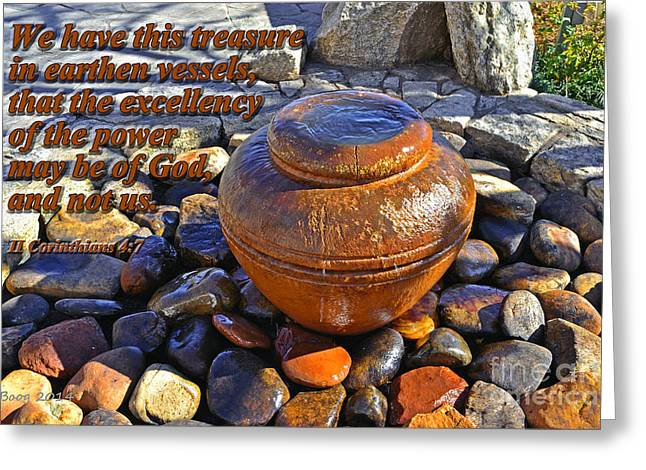 Earthen Vessels Greeting Card by Larry Bishop