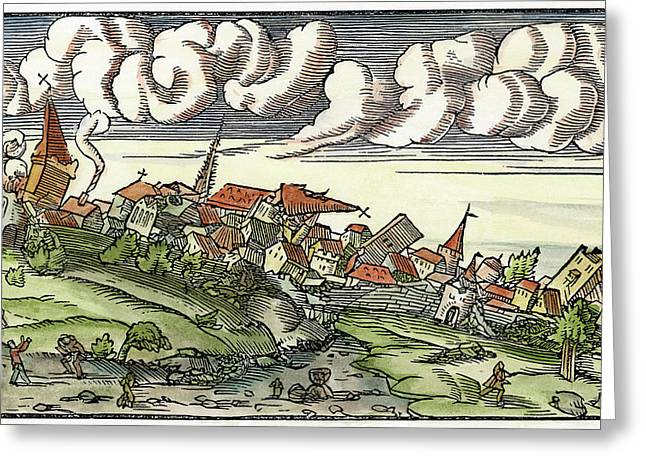 Earthquake, 1550 Greeting Card by Granger