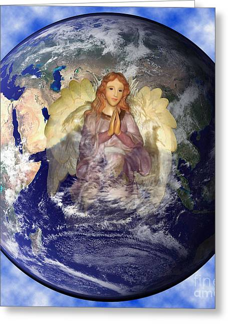 Earths Guardian Angel Greeting Card