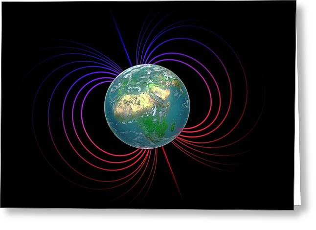 Earth's Magnetosphere Greeting Card by Andrzej Wojcicki