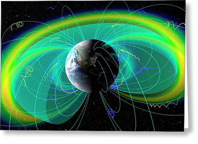 Earth's Radiation And Plasma Belts Greeting Card