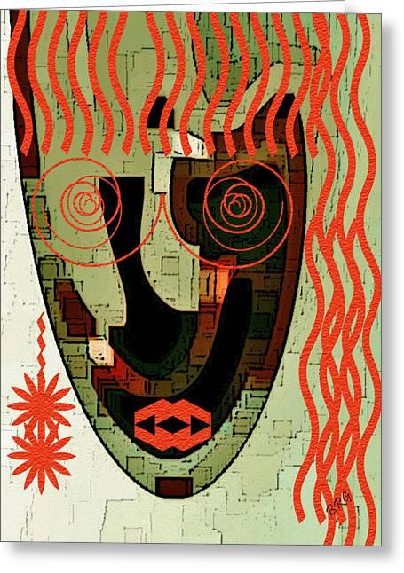 Earthy Woman Greeting Card