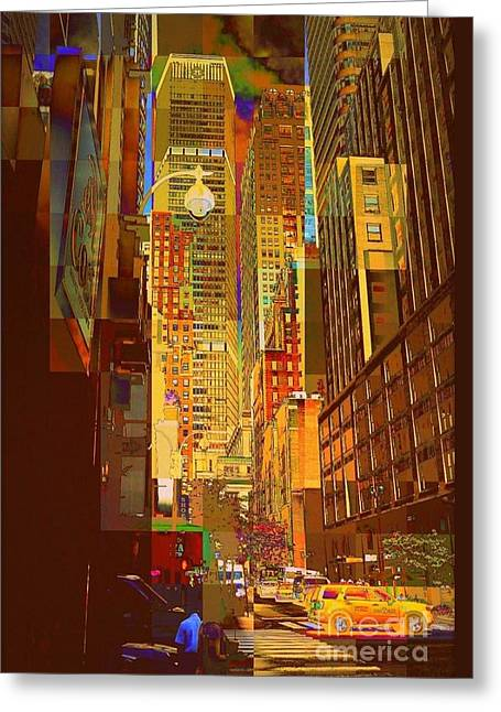 East 45th Street - New York City Greeting Card
