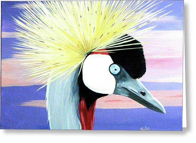 East African Crowned Crane Greeting Card by Phyllis Kaltenbach