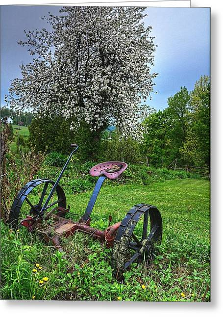 East Albany Mower Greeting Card by John Nielsen