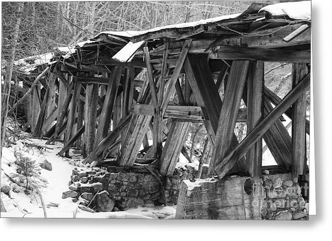 East Branch And Lincoln Railroad - Timber Trestle 16 Greeting Card by Erin Paul Donovan