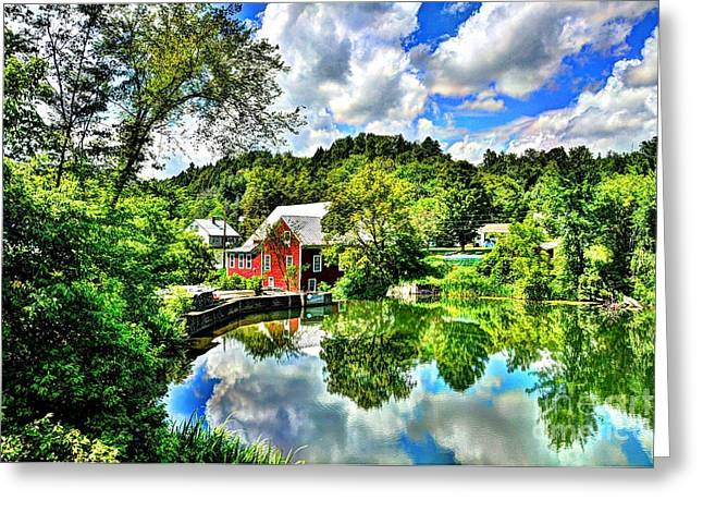 East Calais Mill Pond Greeting Card by John Nielsen