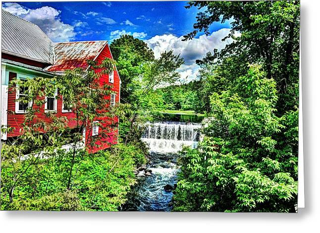 East Calais Water Powered Mill Greeting Card by John Nielsen
