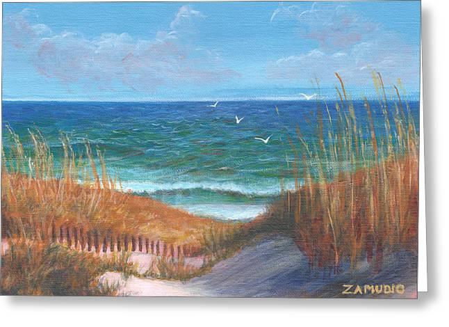 East Coast Seascape By David Zamudio Greeting Card by David Zamudio