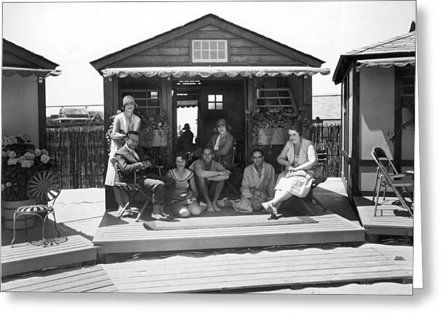 East Coast Seaside Cabana Greeting Card by Underwood Archives