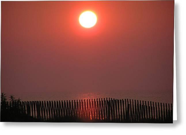 East Coast Sunrise Greeting Card by John Wartman
