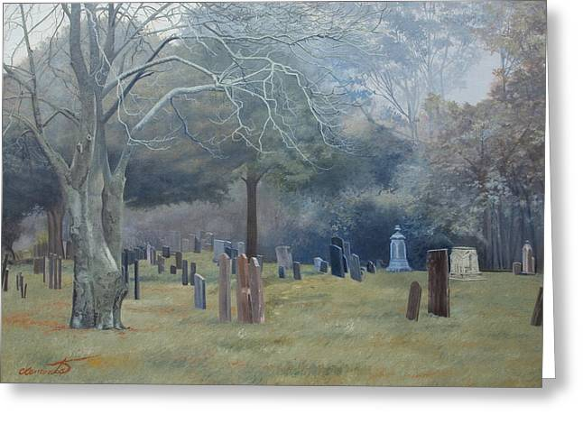 East End Cemetery Amagansett Greeting Card