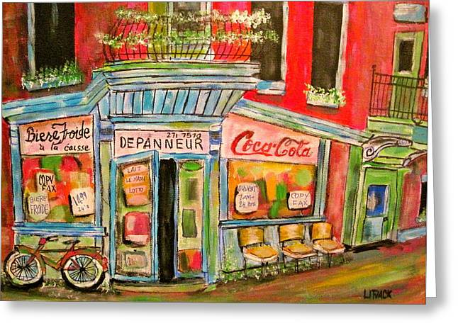 East End Depanneur Greeting Card by Michael Litvack