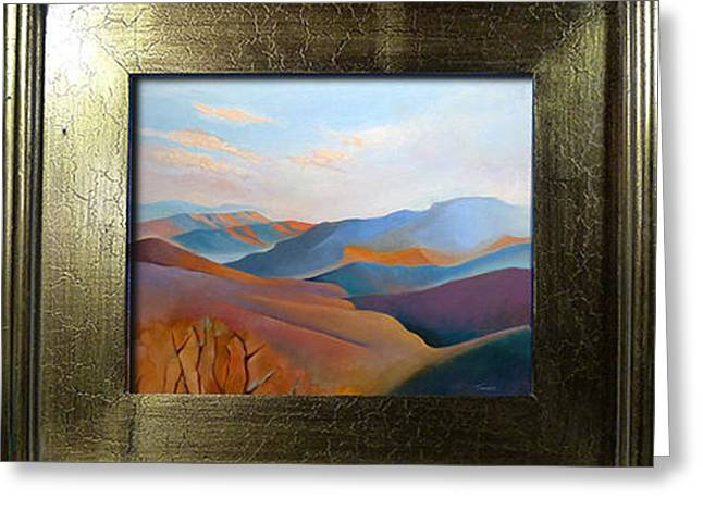 East Fall Blue Ridge No. 3 Oil Painting Greeting Card by Catherine Twomey