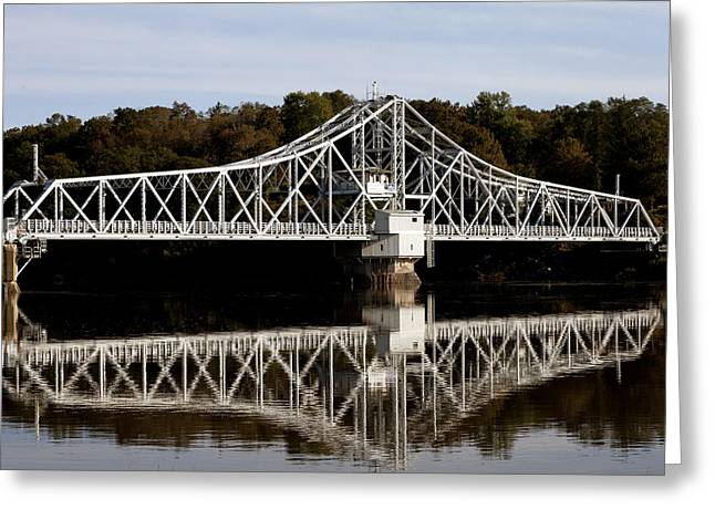 East Haddam Bridge Over The Connecticut River Greeting Card