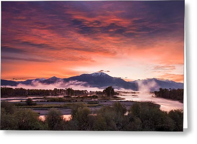 East Idaho Sunrise Greeting Card by Leland D Howard