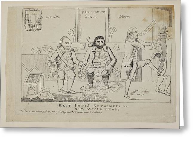 East India Reformers Or New Ways And Mean Greeting Card by British Library