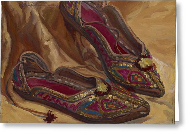 East Indian Shoes Greeting Card