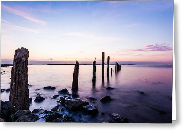 East Kent Sunset Greeting Card by Ian Hufton