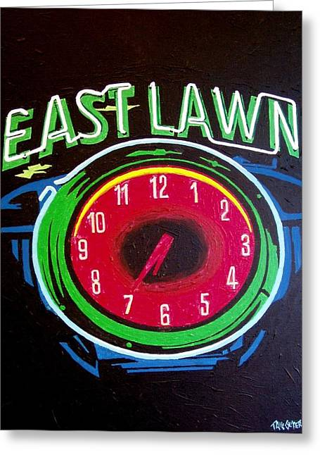 East Lawn Greeting Card by Paul Guyer