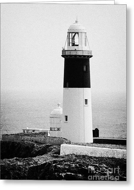 East Light Lighthouse Altacarry Altacorry Head Rathlin Island  Greeting Card by Joe Fox
