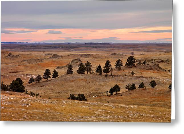 East Montana Country Greeting Card by Leland D Howard