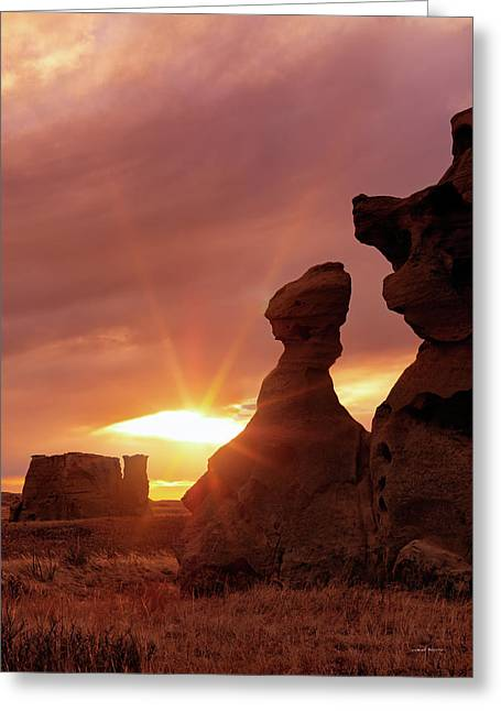 East Montana Medicine Rocks Greeting Card by Leland D Howard