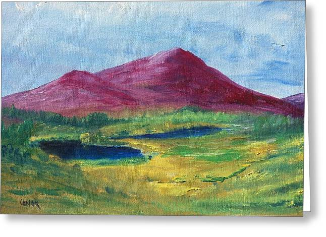 Greeting Card featuring the painting East Of Schull by Conor Murphy