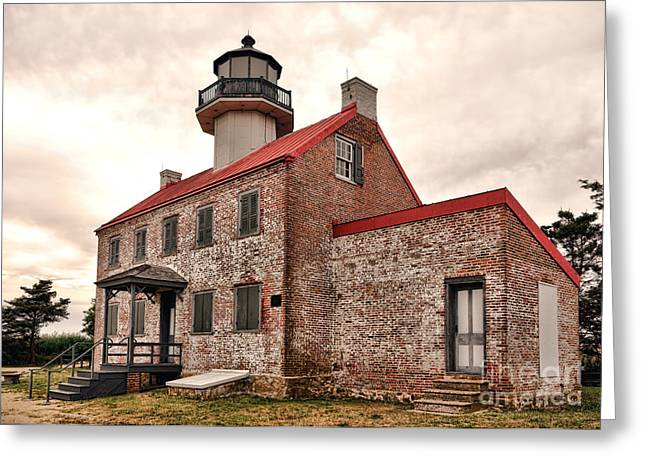 East Point Light Greeting Card by Olivier Le Queinec