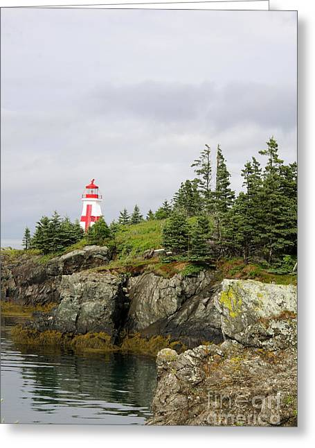 East Quoddy Lighthouse - Campobello Island Greeting Card by Christiane Schulze Art And Photography