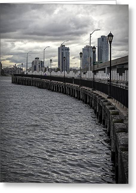 East River Looking South Greeting Card by Robert Ullmann