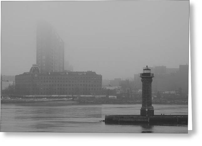 Greeting Card featuring the photograph East River Nyc by Steven Macanka