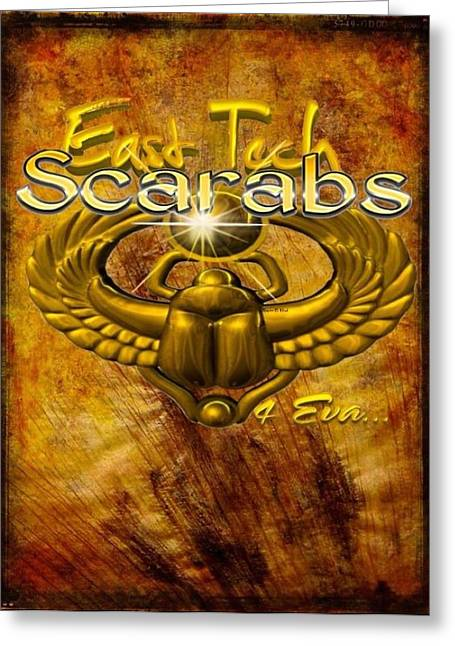 East Tech Scarabs4eva Greeting Card by Romaine Head