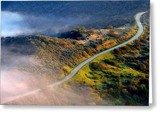 East Topanga Fire Road Greeting Card by Catherine Natalia  Roche