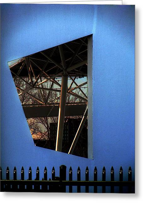 East Wall Of The Marcus Amphitheater At Summerfest Greeting Card by David Blank