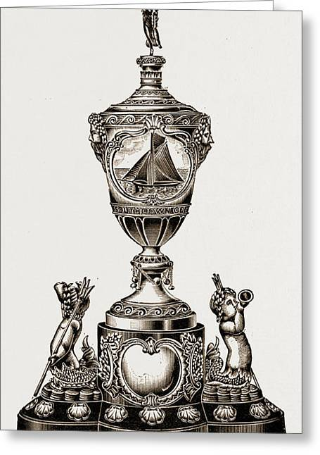 Eastbourne Southdown Regatta Cup, 1897 The Handsome Greeting Card by Litz Collection