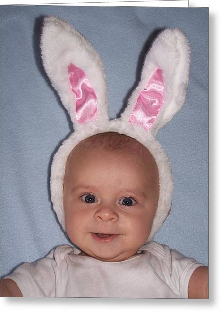 Easter Baby Greeting Card by Dianne Stopponi