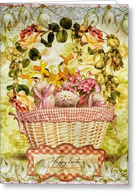 Easter Basket Greeting Card by Mo T